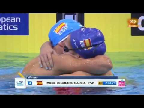 Final 200m Mariposa Femenino (Mireia Belmonte (Oro y CR), Judit Ignacio (Plata)) (24-08-2014) thumbnail