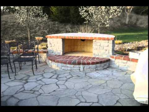 Mega-Arbel Patio with Contemporary Fireplace