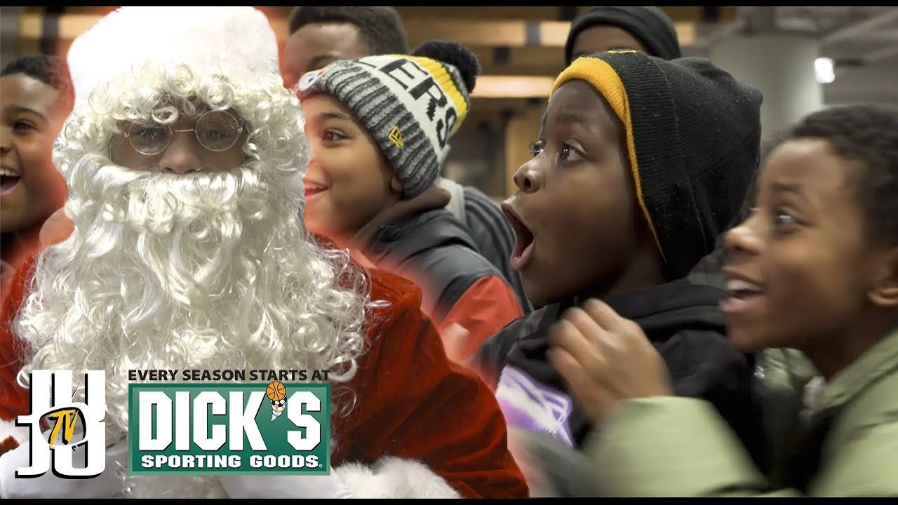 4ac44c328a5 Juju Smith-Schuster Dons Santa Claus Costume; Gives Kids An Unforgettable  Christmas   93.7 The Fan