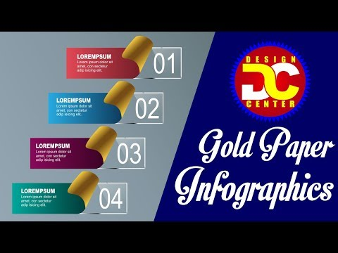How to Create a Gold Paper Infographics Elements Design In CorelDRAW X7