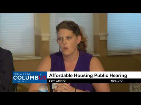 Affordable Housing Public Hearing - October 10, 2017