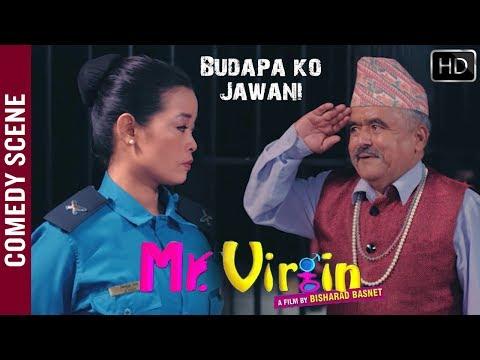 Gokte Kaji & Sirjana Subba Comedy   UDREKO CHOLI HERNE NANI   Nepali Movie Comedy Scene   MR. VIRGIN