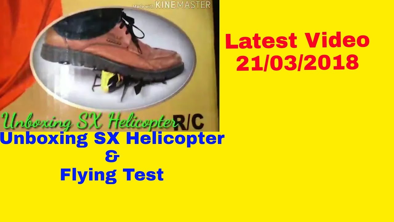 Unboxing and flying test SX Helicopter