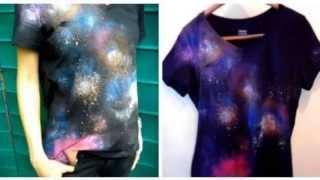DIY Cosmic Galaxy Print Shirt Tutorial   Make This Gift Idea!