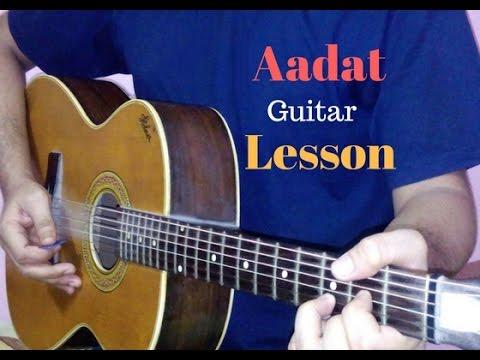 aadat guitar lesson chords cover (Jal) Atif aslam 2017 - YouTube
