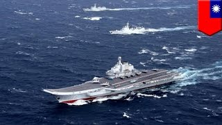 China Taiwan relations  China aircraft carrier enters Taiwan Strait, Taiwan deploys jets   TomoNews
