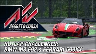 Assetto Corsa Early Access - BMW M3 & 599XX Hotlap Challenges