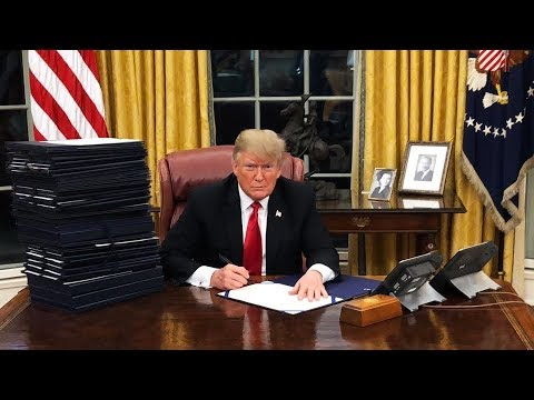 Trump Caught Signing Fake Bills in Oval Office
