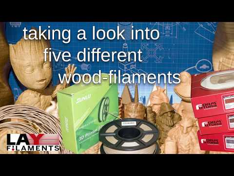 How woody they are? Five wood-filaments from lay-filaments, sunlu and formfutura