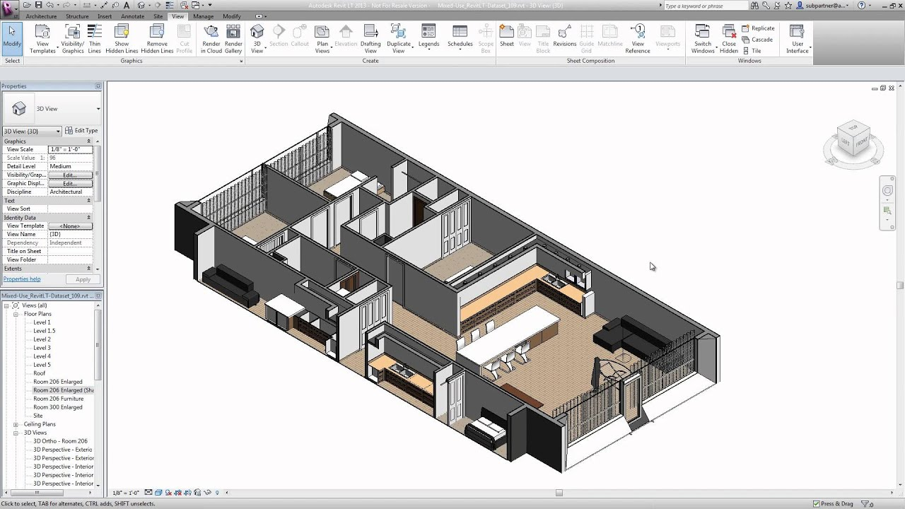 Open Floor Plan House Plans With Photos Autodesk Revit Lt 2015 Presentation Youtube