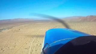 Cessna 152 Landing At Chiriaco Summit GoPro (short version)