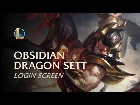Obsidian Dragon Sett | Login Screen - League of Legends