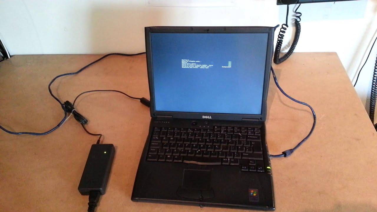Old school workhorse Dell Latitude C600 Laptop running