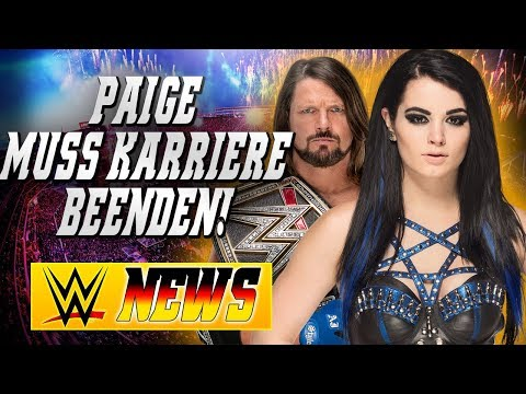 Paige muss ihre Karriere beenden!, Wrestler des Jahres 2017   WWE NEWS 5/2018