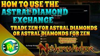 Neverwinter: How To Use Astral Diamond Exchange (Xbox One)