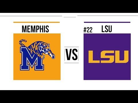 2018 College Basketball Memphis vs #22 LSU Full Game Highlights