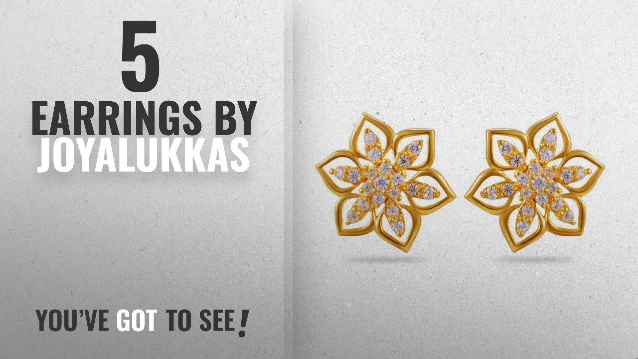 b56eb6927108e Top 10 Joyalukkas Earrings [2018]: Joyalukkas Impress Collection 22k Yellow  Gold Stud Earrings