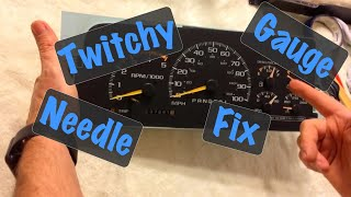 1994 95 96 97 98 99 GM Truck Erratic Crazy Fuel & Oil Gauge Needle Aircore Motor Repair (Chevy GMC)