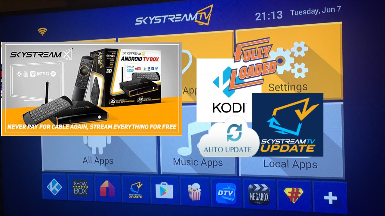 Skysteam X5 Android TV Fully loaded Kodi w kodi updater w/ TV Tuner  Detailed Review