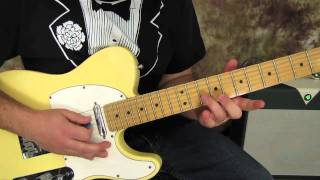 Rock and Blues guitar lessons - Blues lick on fender telecaster