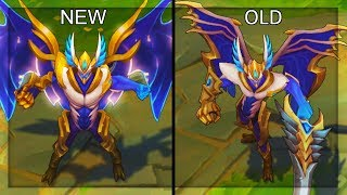 All Aatrox Skins NEW and OLD Texture Comparison Rework 2018 (League of Legends)