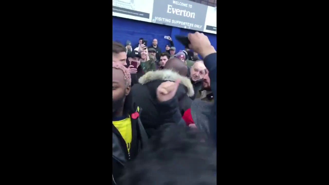 Arsenal Fans Singing Get Out Of Our Club At Robbie From Arsenal