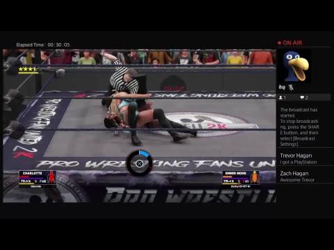 Charlotte vs Ember Moon WWE 2K18