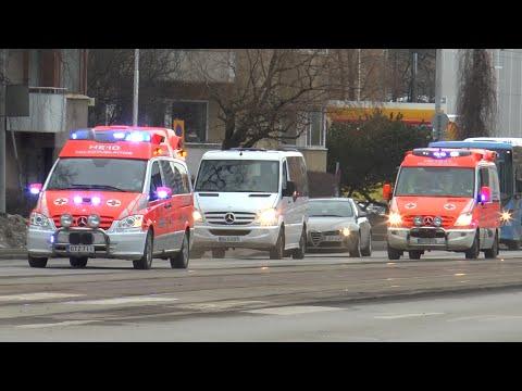 Doctor unit HE10 + Ambulance HE1331 Helsingin kaupungin Pelastuslaitos [FI   1]