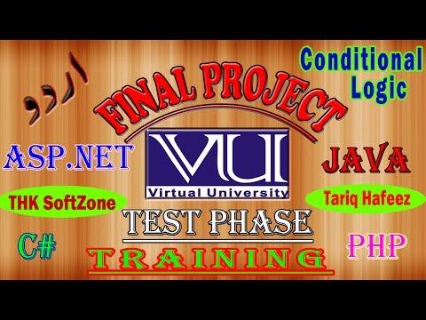 VU Test Phase 1 Programming Conditional Logic