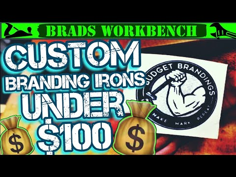 Affordable CUSTOM Branding Iron || Budget Branding Irons REVIEW