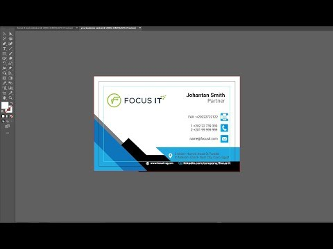 Modern Business card Design in Illustrator CC 2019| bangla Tutorial| #business_Card thumbnail