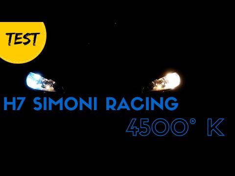 Test lampadine H7 Simoni Racing 4500°K vs H7 stock