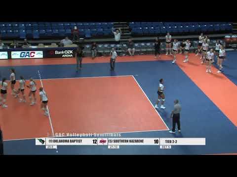 2019 GAC Volleyball Semifinal #2: Oklahoma Baptist Vs. Southern Nazarene