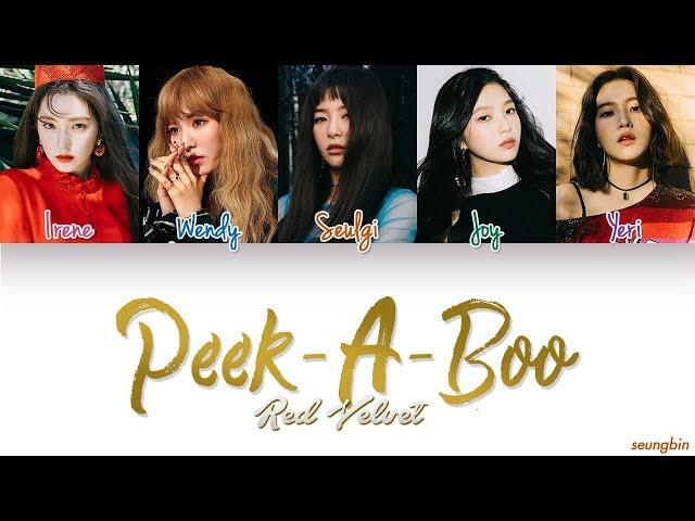 Red Velvet (레드벨벳) Peek-A-Boo [Color Coded Han|Rom|Eng lyrics]