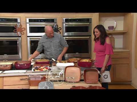 Copper Chef 10-piece Cerami-Tech Non-Stick Cookware Set on QVC
