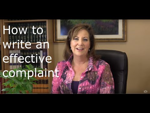3 Easy Steps To Write An Effective Complaint.