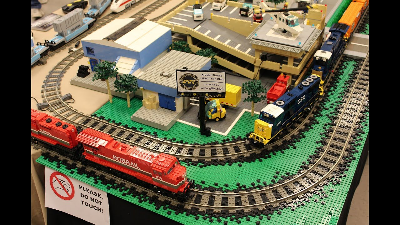 lego trains at the plant city fl train show youtube. Black Bedroom Furniture Sets. Home Design Ideas