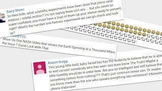 Responding to Flat-Earthers Comments