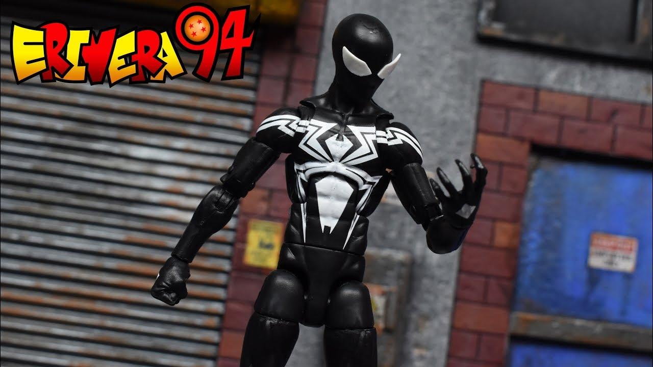 Marvel Legends Spider-Man Symbiote BLACK Costume No Kingpin BAF Piece In Stock