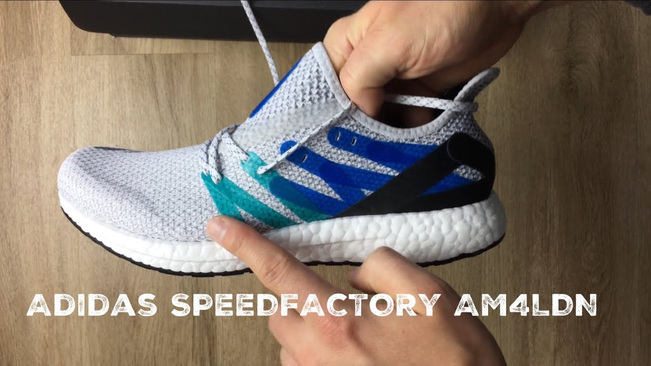 watch 3024d 84835 Adidas SPEEDFACTORY AM4LDN Ftwr WhiteCore Black  UNBOXING  ON FEET   fashion shoes  2017  HD