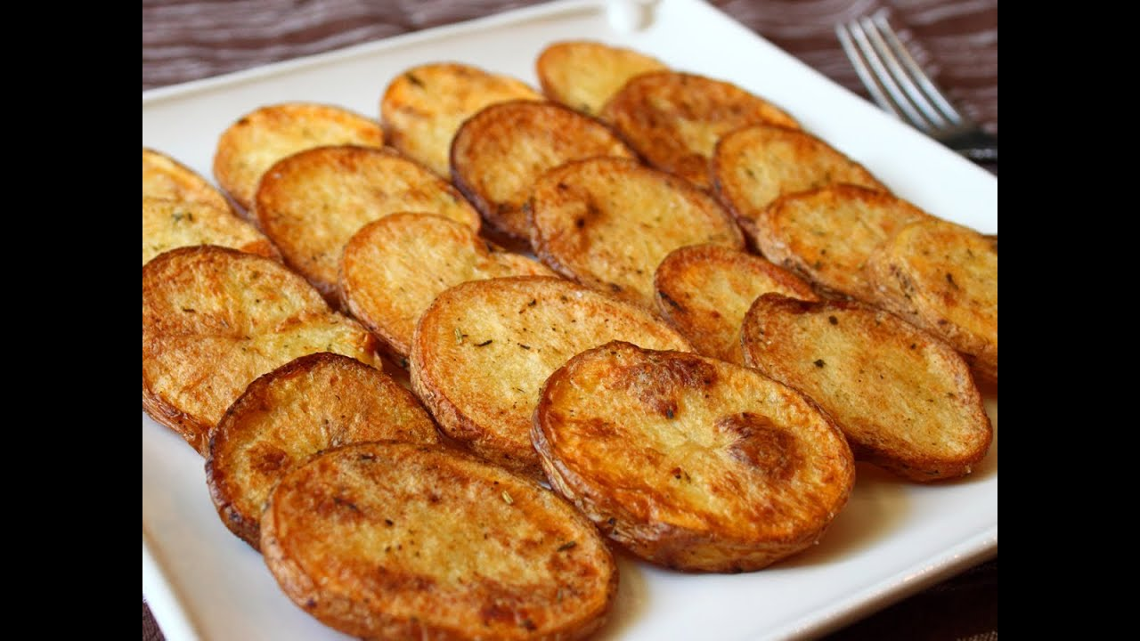 Cottage Fries - Easy Oven-Fried Potato Rounds - YouTube