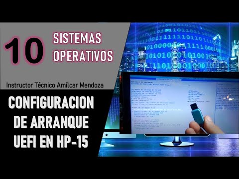 10 Configuración de Arranque UEFI en Laptop HP-15