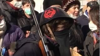 Противоправные действия мирных протестующих 18 февраля 2014 года