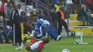 SHOCKING leg break - Oupa Ngulube vs Black Aces