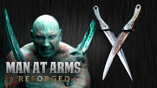 Drax s Daggers Guardians of the Galaxy - MAN AT ARMS REFORGED
