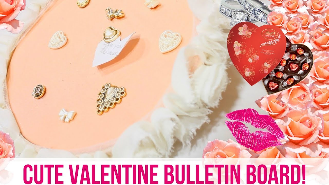 Diy Hanging Embroidery Hoop Bulletin Board Valentines Edition