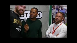 Video: Saunders Talks Wilder Incident, Fury Crashes Interview 2018/8/19-Synthetic clip