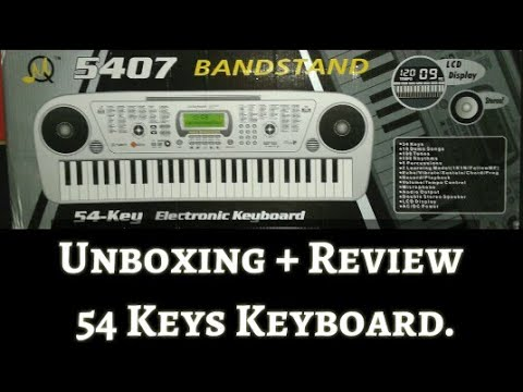 Unboxing 5407 Bandstand Electronic Keyboard.