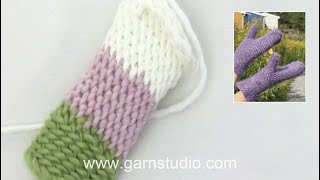 Repeat youtube video DROPS Crochet Tutorial: How to crochet bosnian crochet / slip stitches