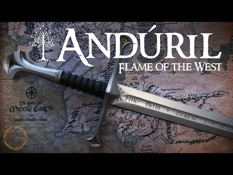 Andúril - Flame of the West - Realistic Sword made out of Wood
